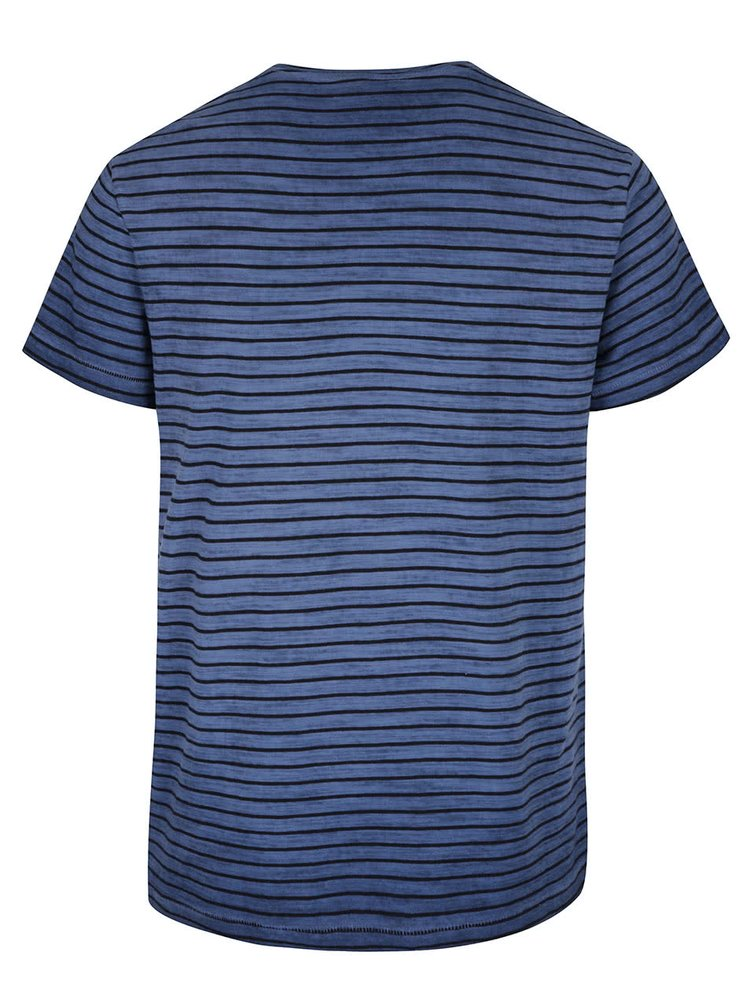 Tricou albastru cu negru in dungi Blend