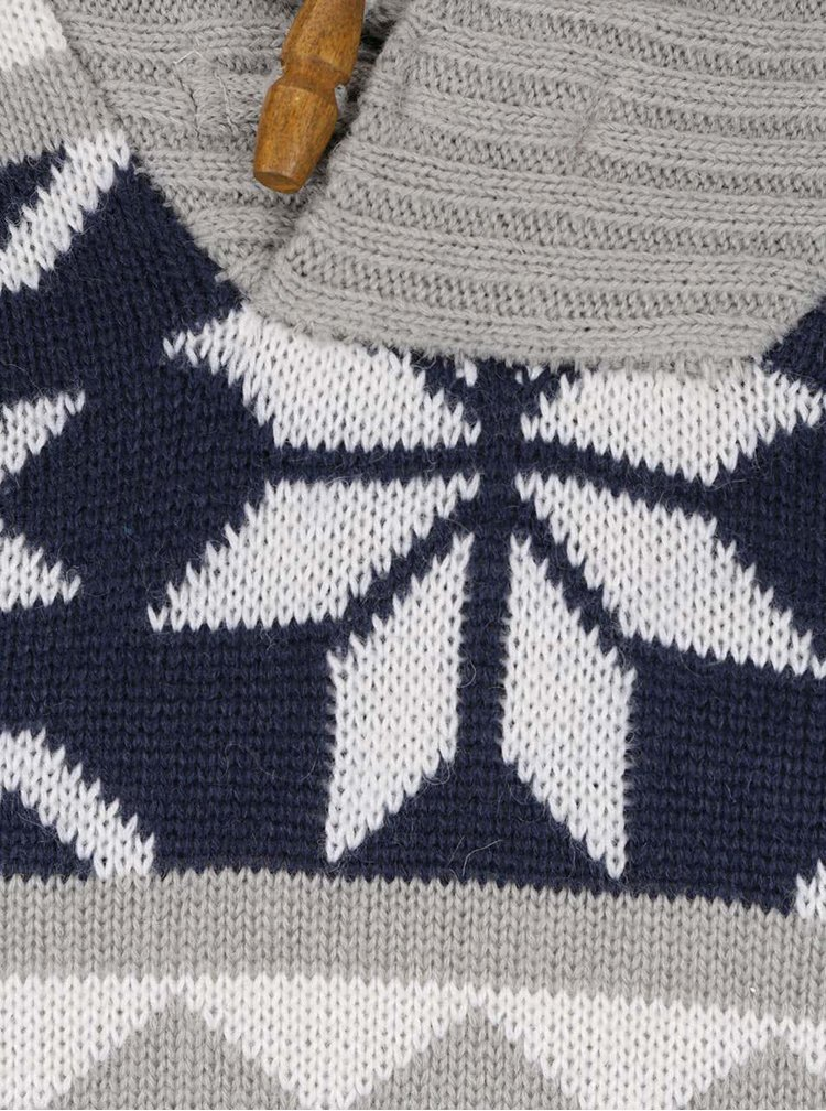 Šedý svetr se vzorem Blend