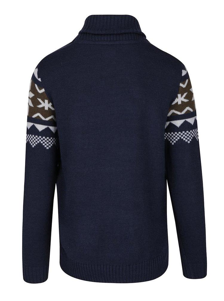 Tmavě modrý svetr se vzorem Blend