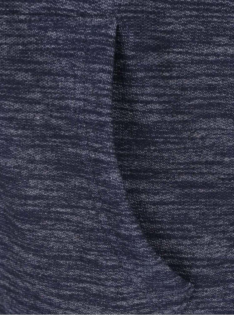 Šedo-modrá žíhaná mikina na zip s kapucí Blend
