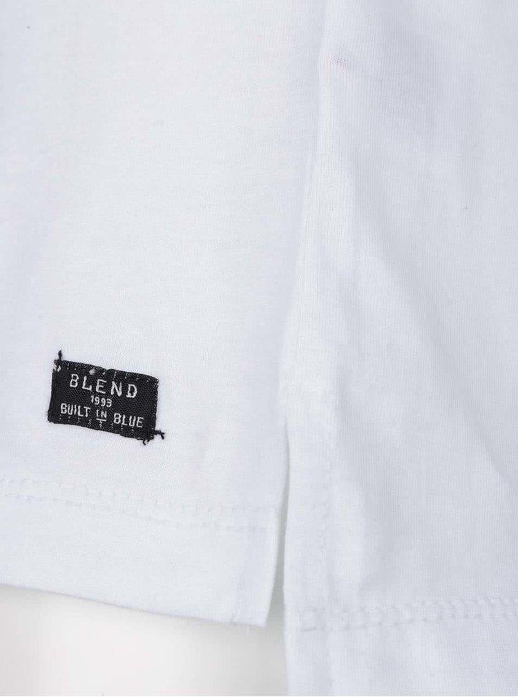 Bílé triko s krátkým rukávem a potiskem Blend