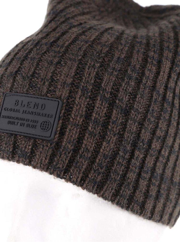 Černo-zelená čepice Blend