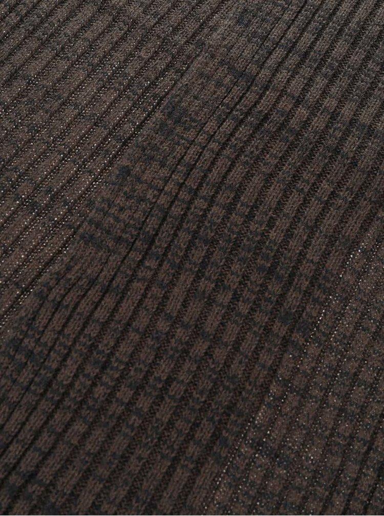 Černo-zelená pletená šála Blend
