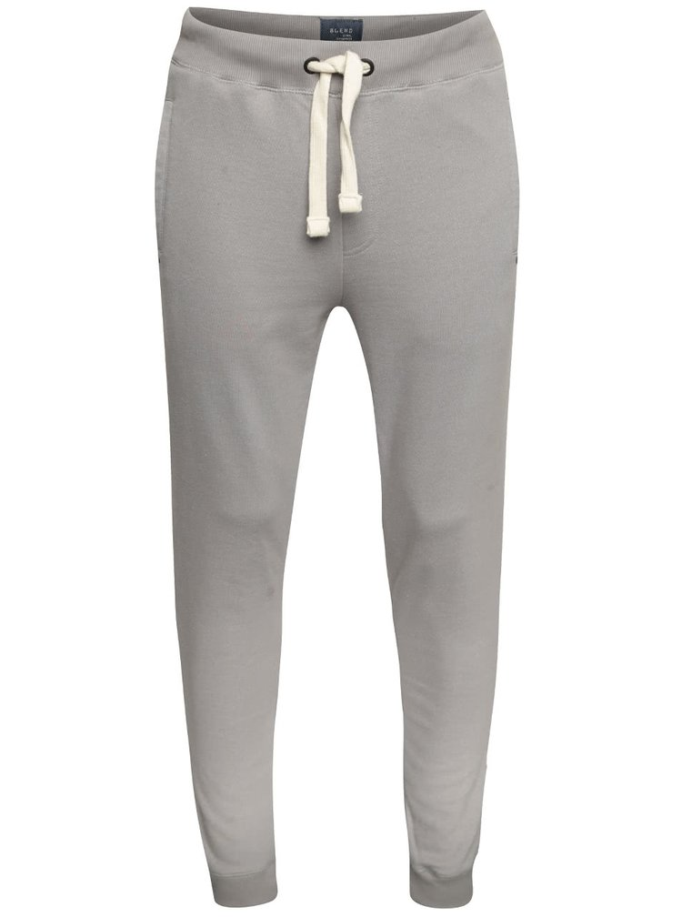 Světle šedé žíhané teplákové kalhoty Blend