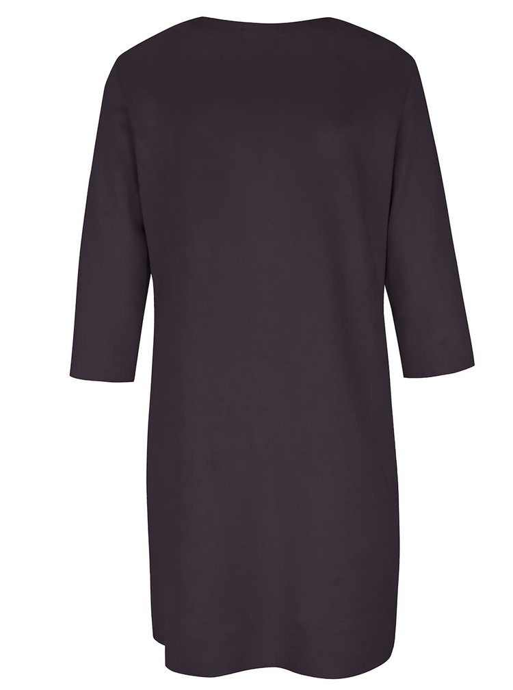 Černé sametové šaty s kapsami Alchymi