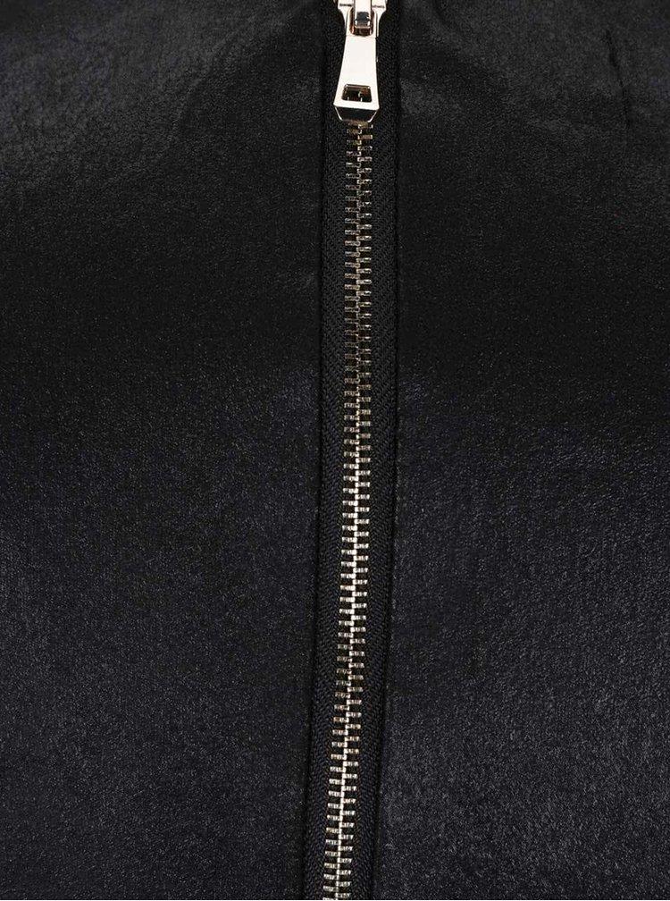 Černé sametové šaty s překládaným výstřihem Alchymi