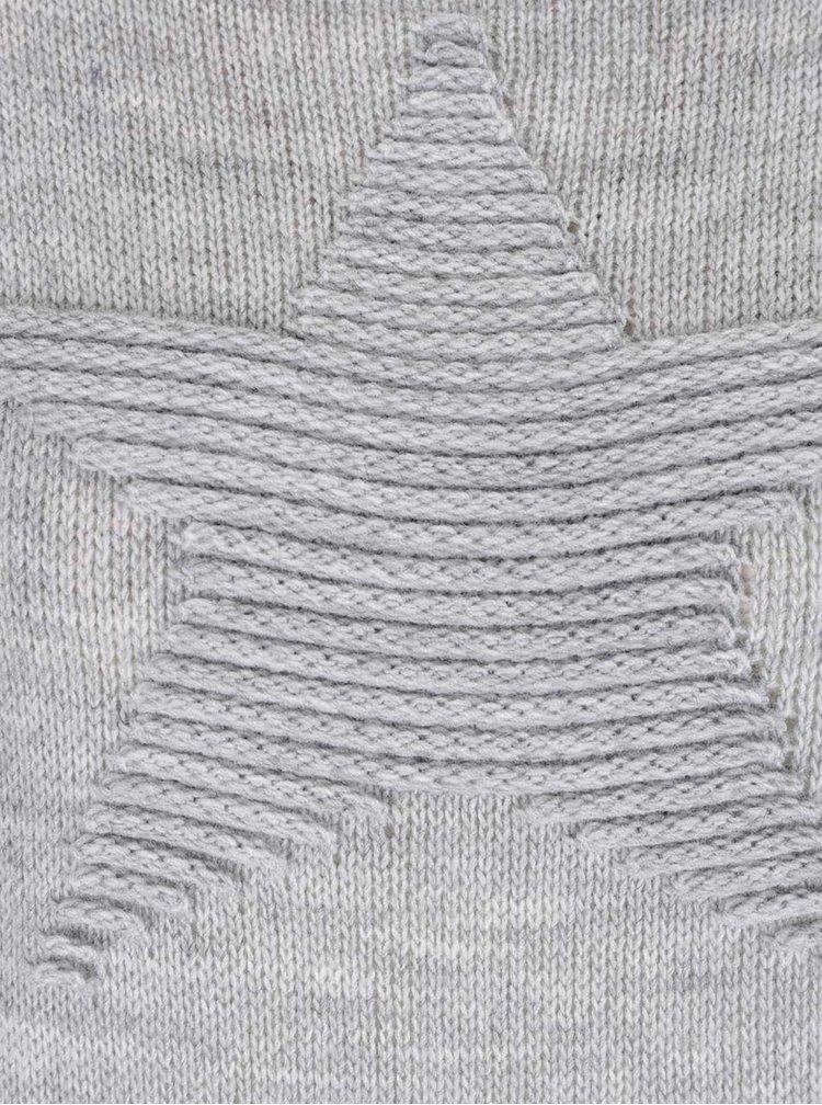 Pulover gri Haily´s Sophia cu model stea