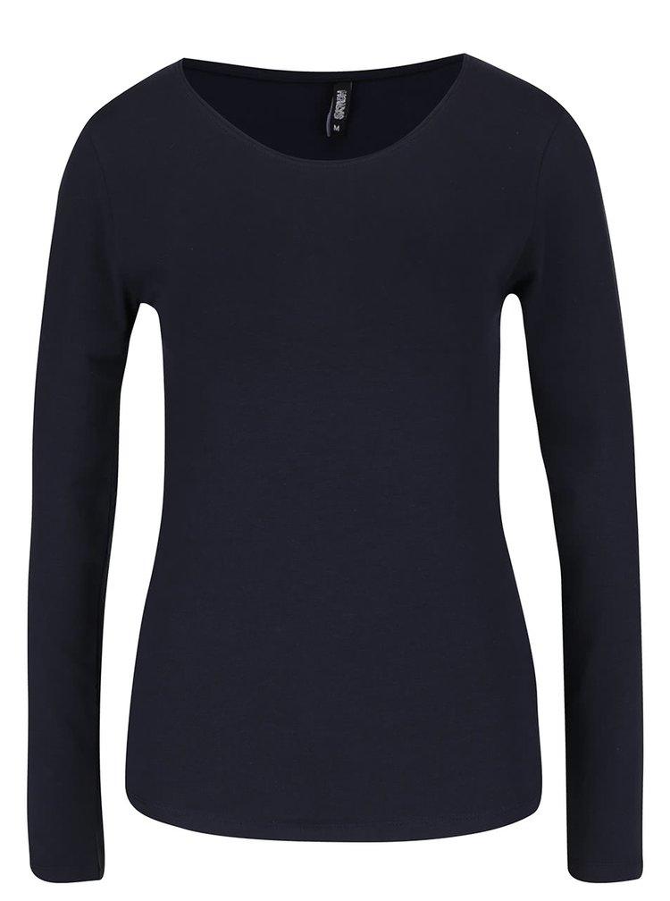 Tmavomodré tričko s dlhým rukávom Haily´s Tina