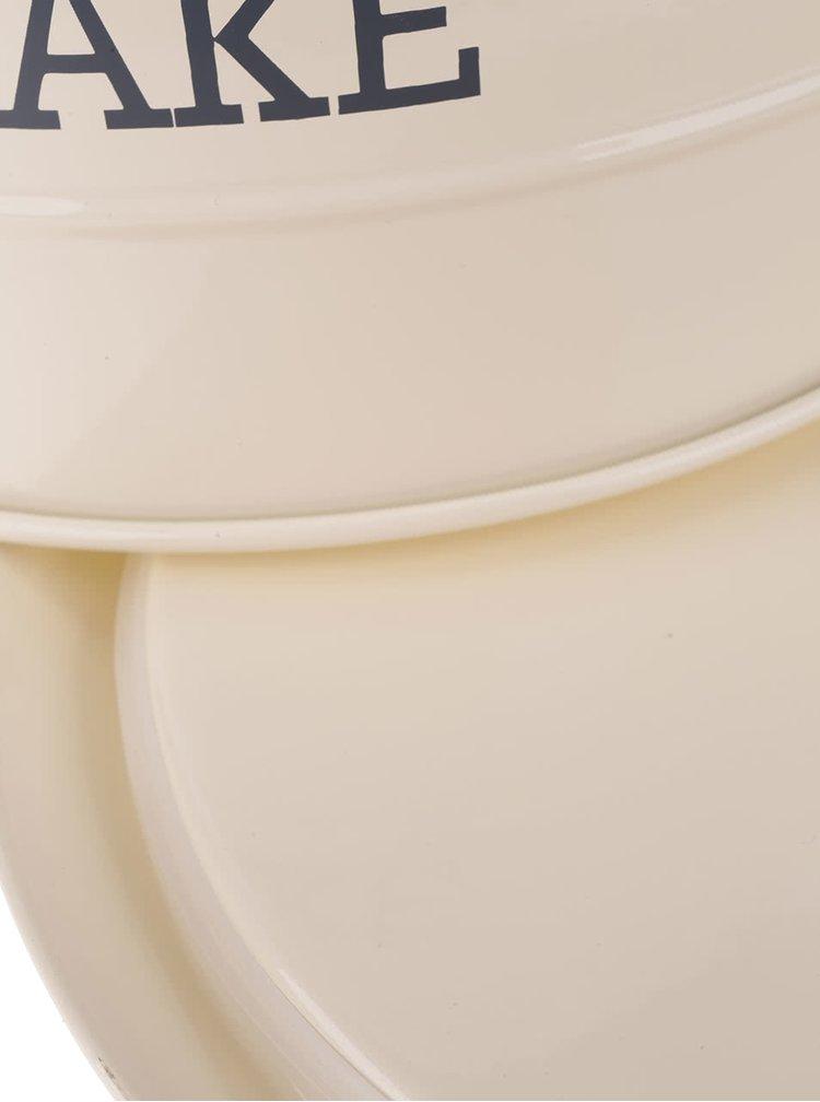 Krémová plechová dóza na dort Kitchen Craft