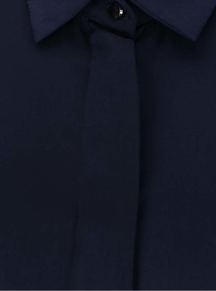 Tmavě modré košilové šaty s odhalenými rameny Alchymi Majuba