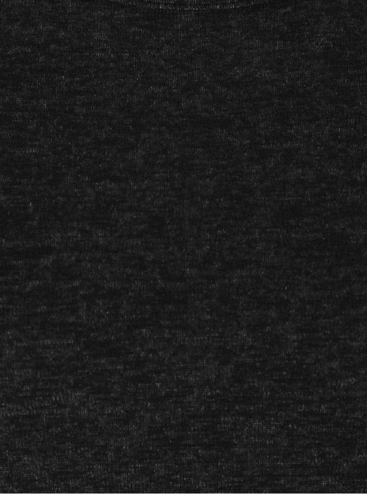 Černý žíhaný lehký svetr Haily´s Elisa