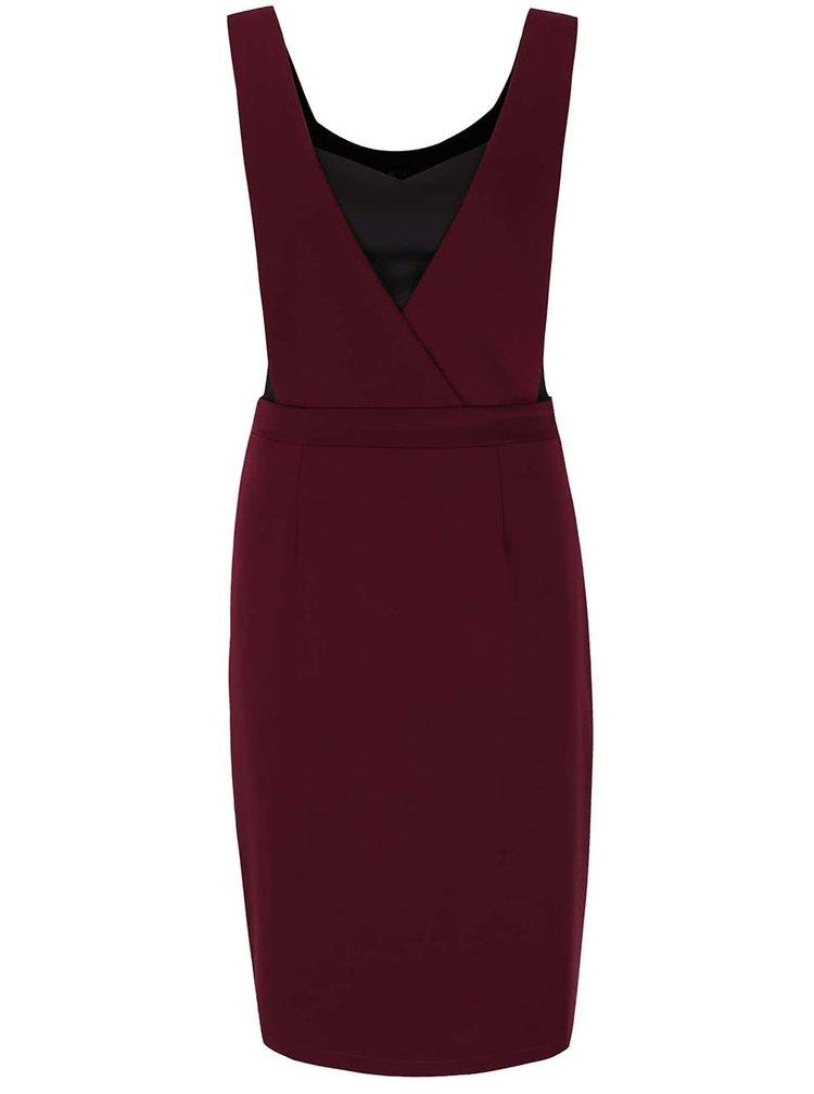 Vínové šaty s všitým topem Alchymi Kaho