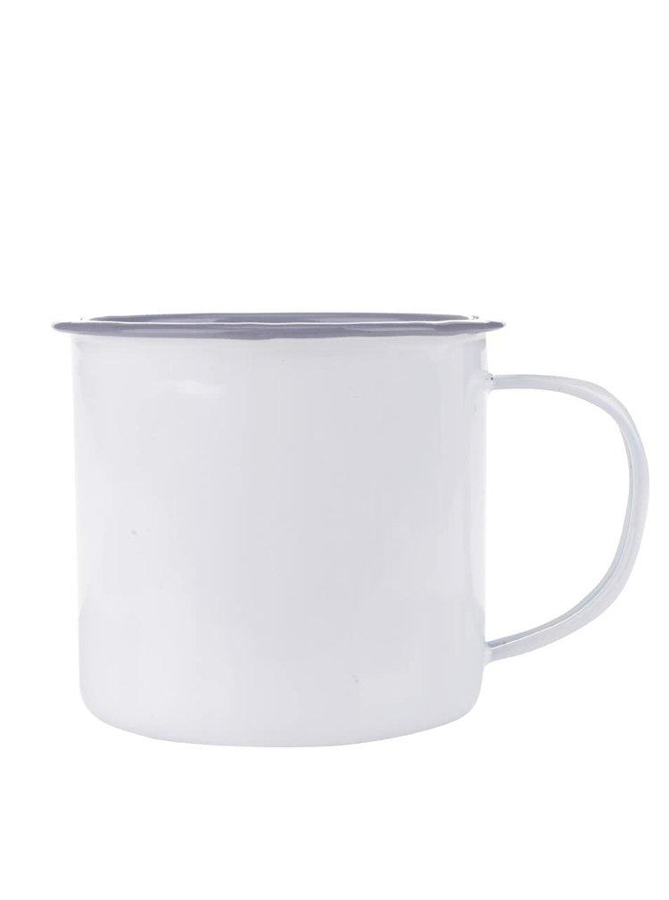 Větší bílý smaltovaný hrnek Kitchen Craft