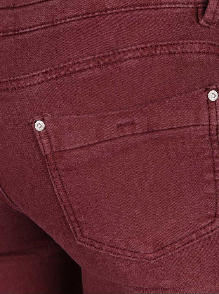 Vínové džíny s opraným efektem Haily´s Clara