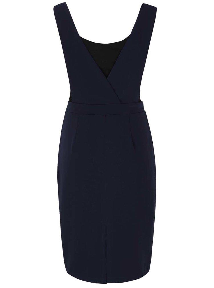 Tmavě modré šaty s všitým tílkem Alchymi Kaho
