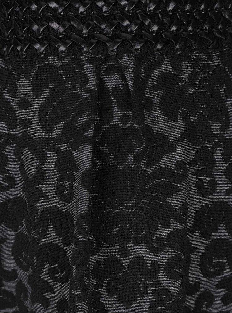 Černo-šedá vzorovaná sukně Alchymi