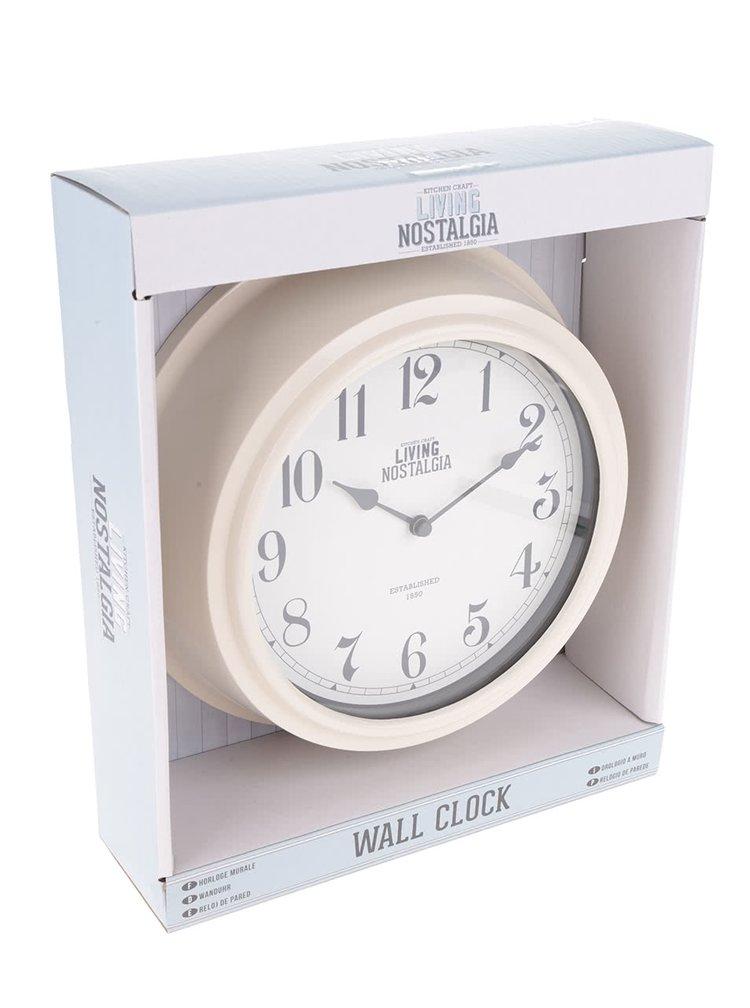 Krémové nástěnné hodiny Kitchen Craft