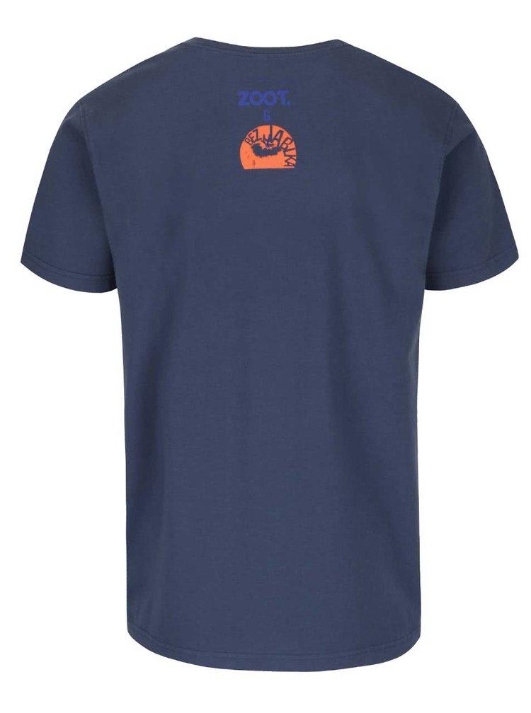 Tmavě modré pánské tričko s krátkým rukávem Bez Jablka Piva