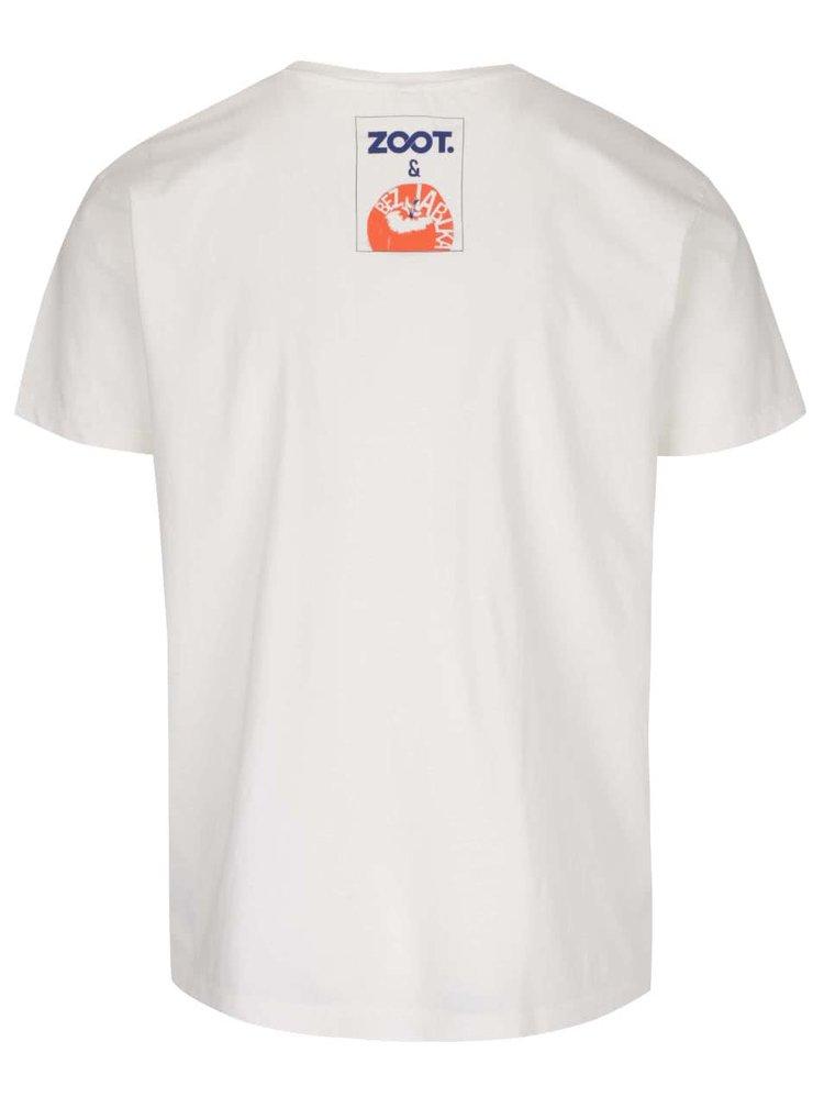 Krémové pánské tričko s krátkým rukávem Bez Jablka Jdu na jedno