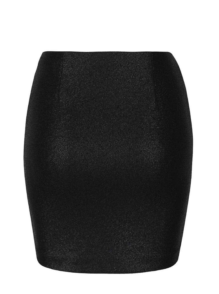 Čierna elastická minisukňa s odleskmi TALLY WEiJL