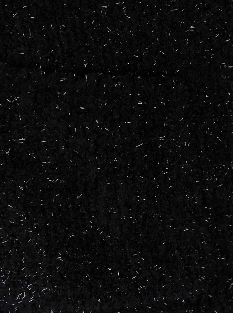 Černý krátký třpytivý cardigan s 3/4 rukávy TALLY WEiJL