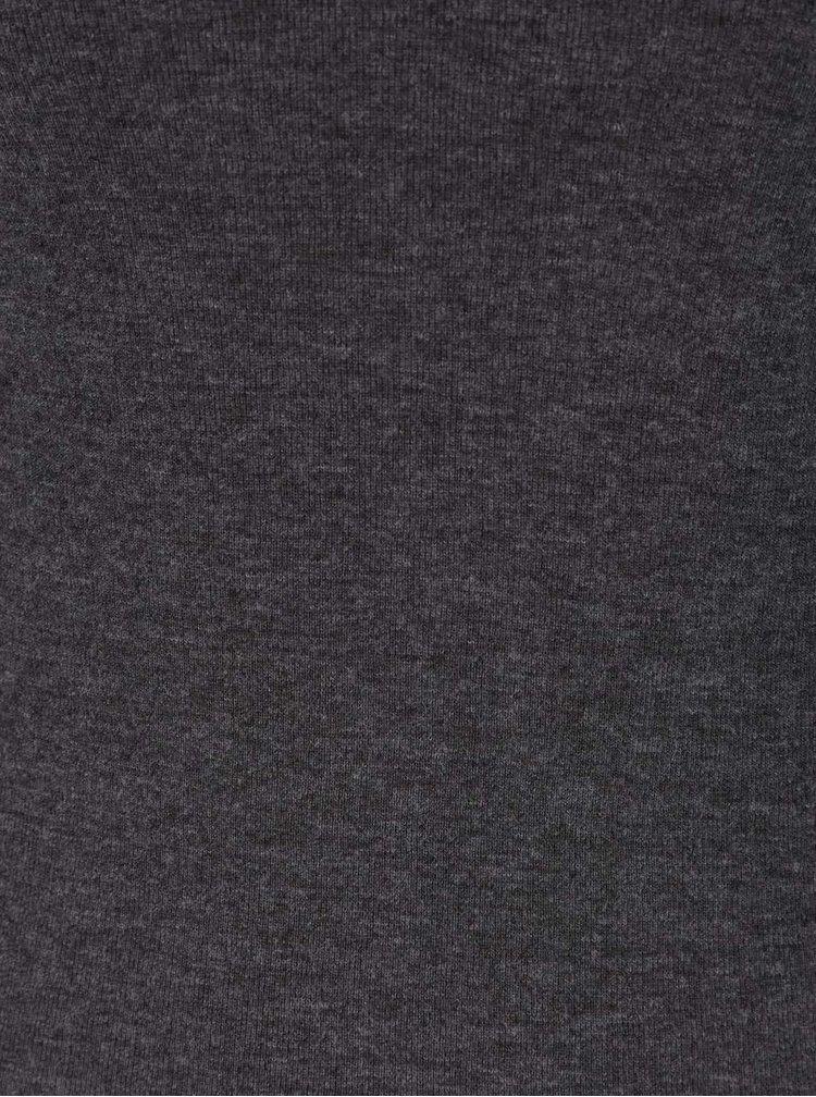 Tmavosivé tričko s dlhým rukávom TALLY WEiJL