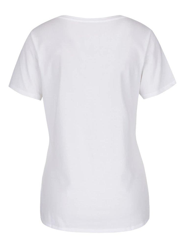 Bílé dámské tričko s potiskem Nike Training