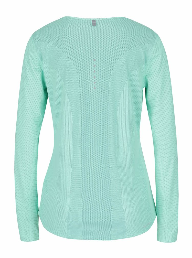 Světle zelené sportovní tričko s dlouhým rukávem Nike Contour