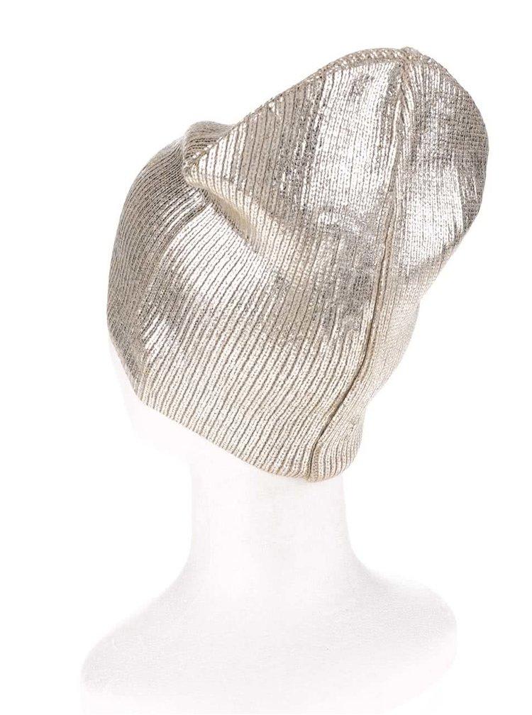Lesklá čepice ve zlaté barvě Tally Weijl