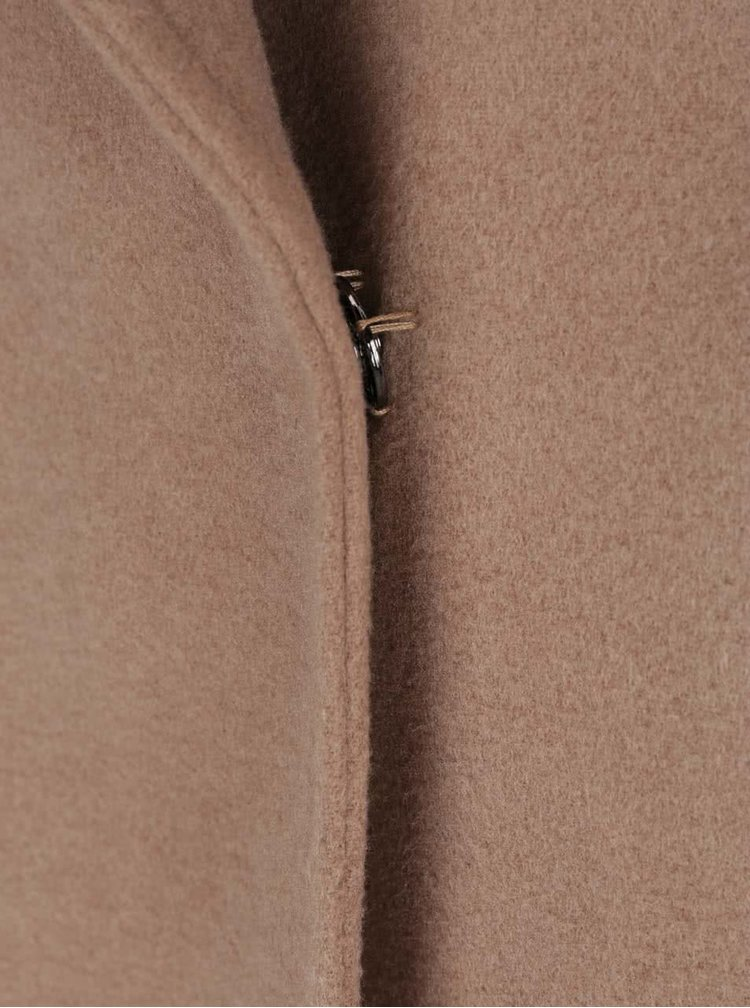 Hnědý kabát se zavazováním v pase ZOOT