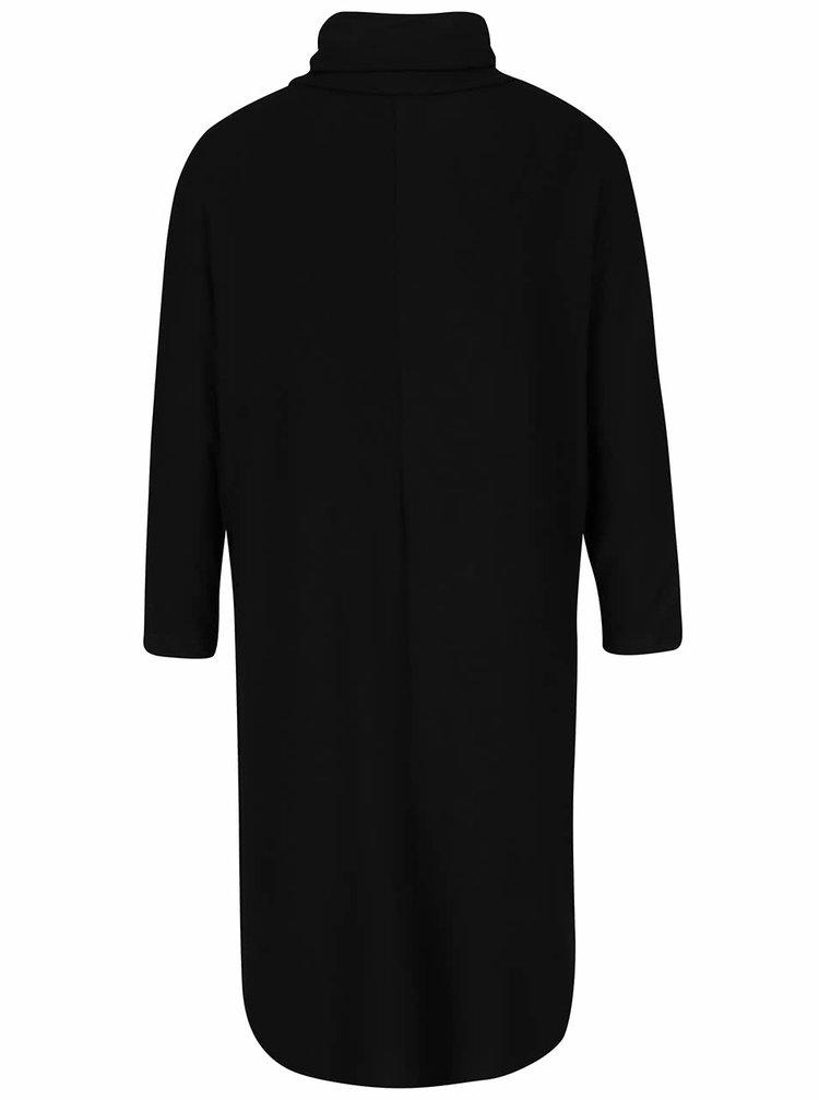 Černé šaty s rolákem a kimonovými rukávy VILA Tristan