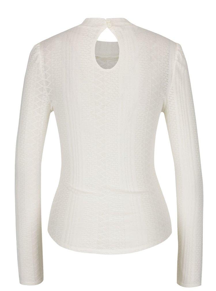 Krémové tričko s volánky Miss Selfridge