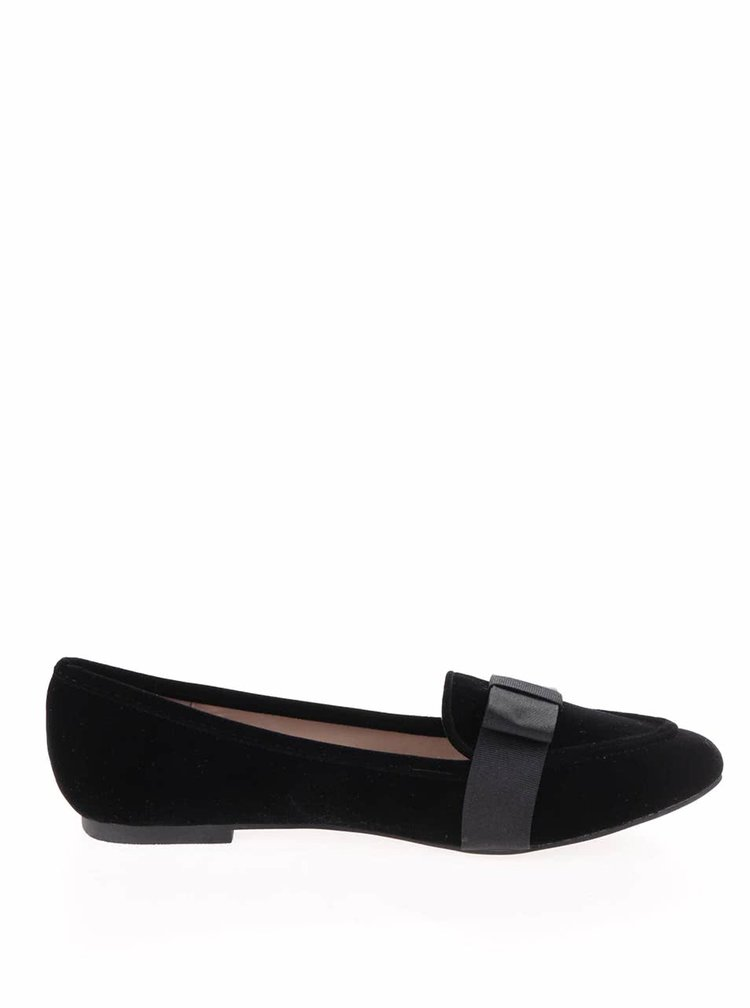 Pantofi negri cu funde decorative Dorothy Perkins