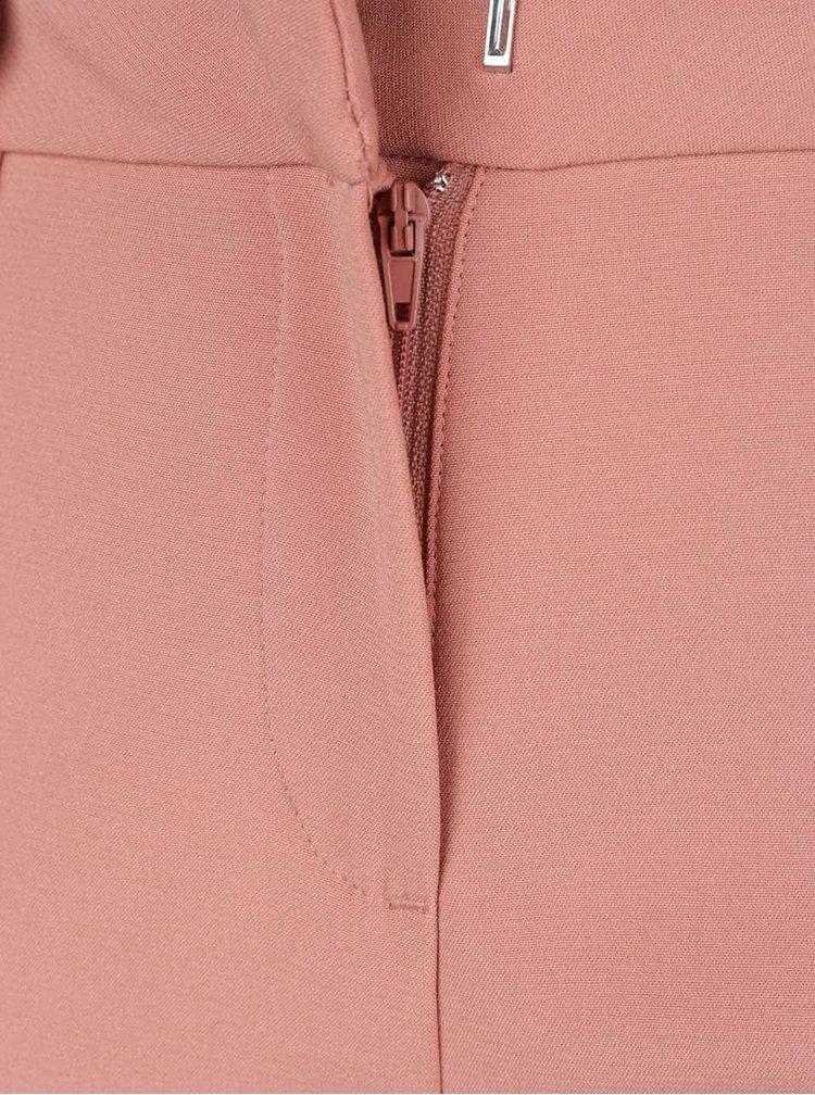 Světle růžové kalhoty VILA Rumor