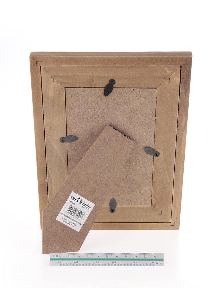 Béžovo-hnědý dřevěný rámeček Sass & Belle Country Farmhouse