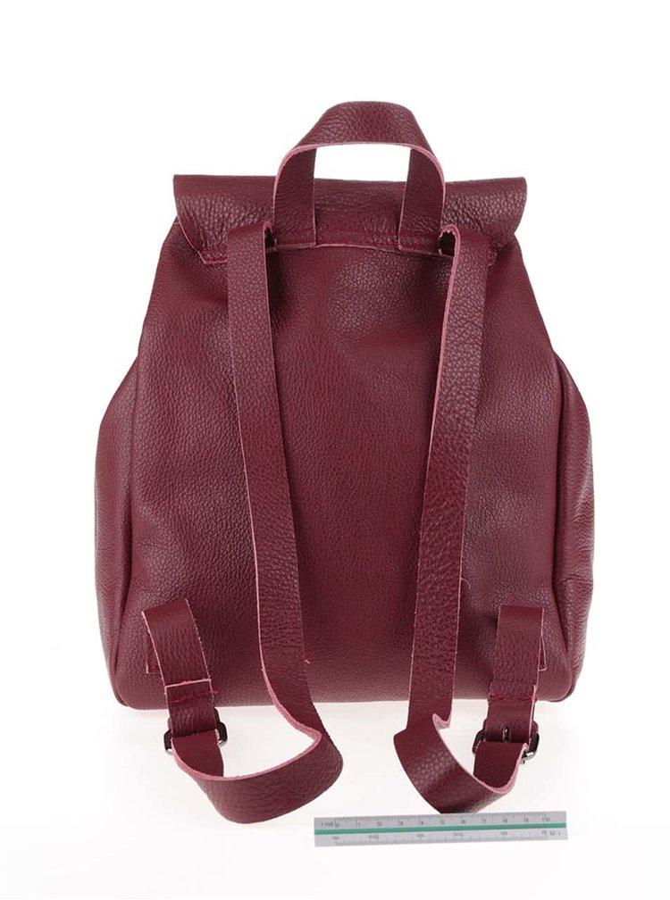 Vínový kožený batoh ZOOT