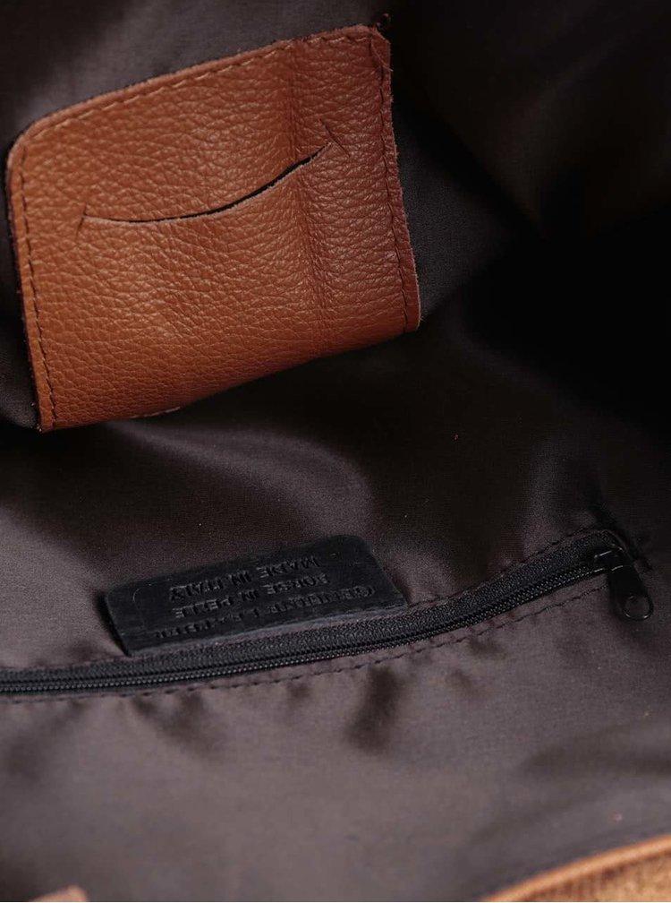 Hnedý kožený batoh ZOOT