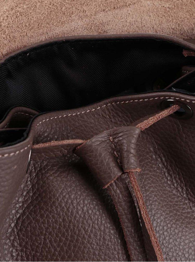 Kávově hnědý kožený batoh ZOOT