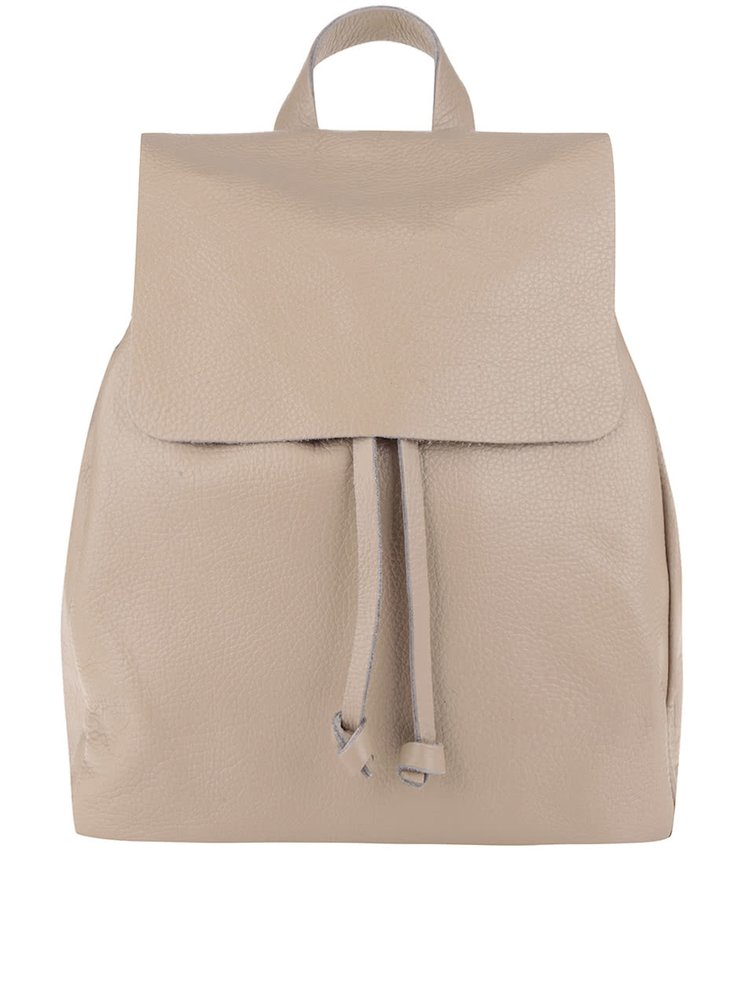 Béžový kožený batoh ZOOT