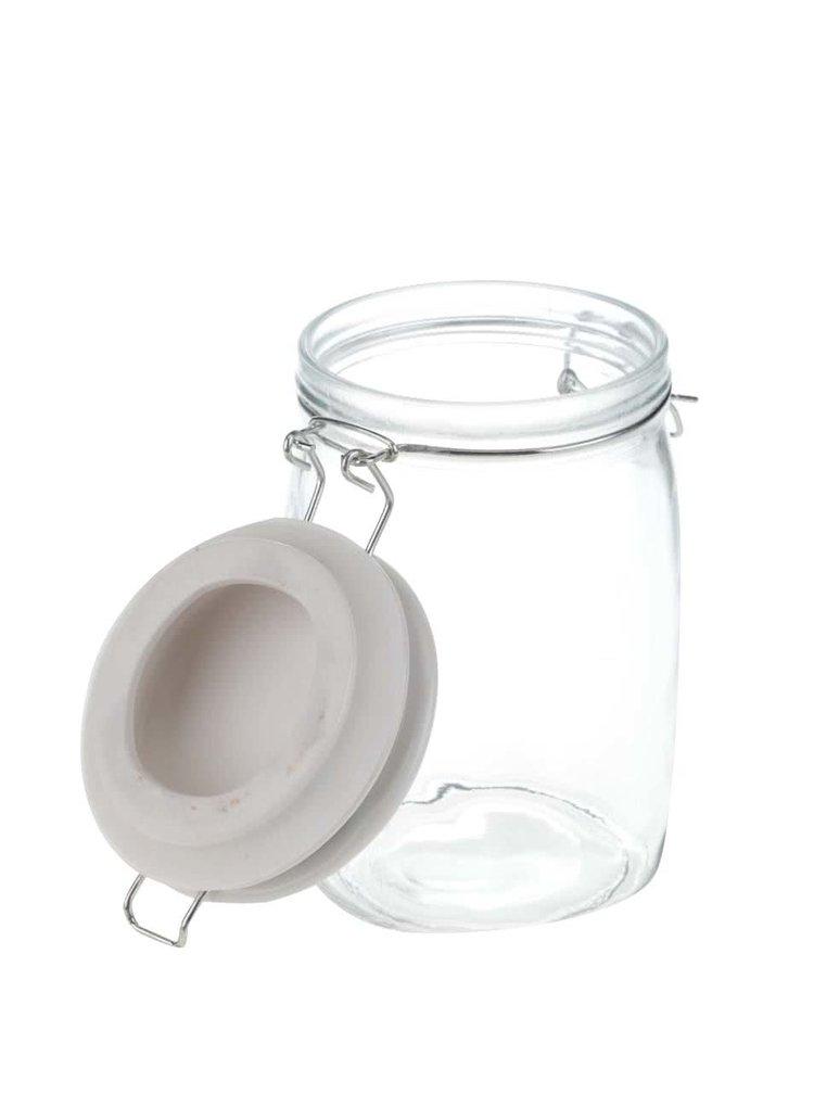 Sklenená nádoba s klipom v retro štýle Sass & Belle