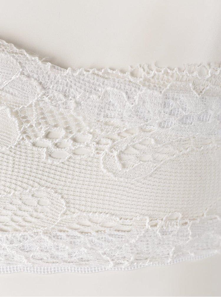 Krémová čipkovaná podprsenka s béžovými detailmi ICÔNE Jane