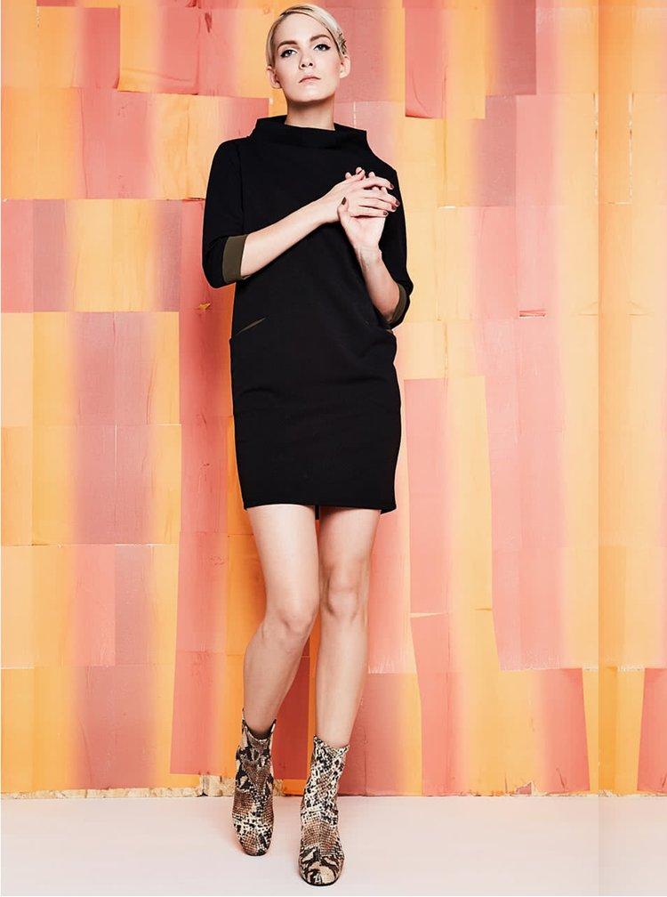 Černé šaty s kapsami Alchymi
