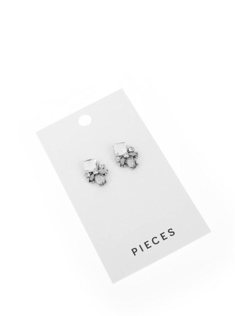 Cercei argintii Pieces Dorthi cu pietre
