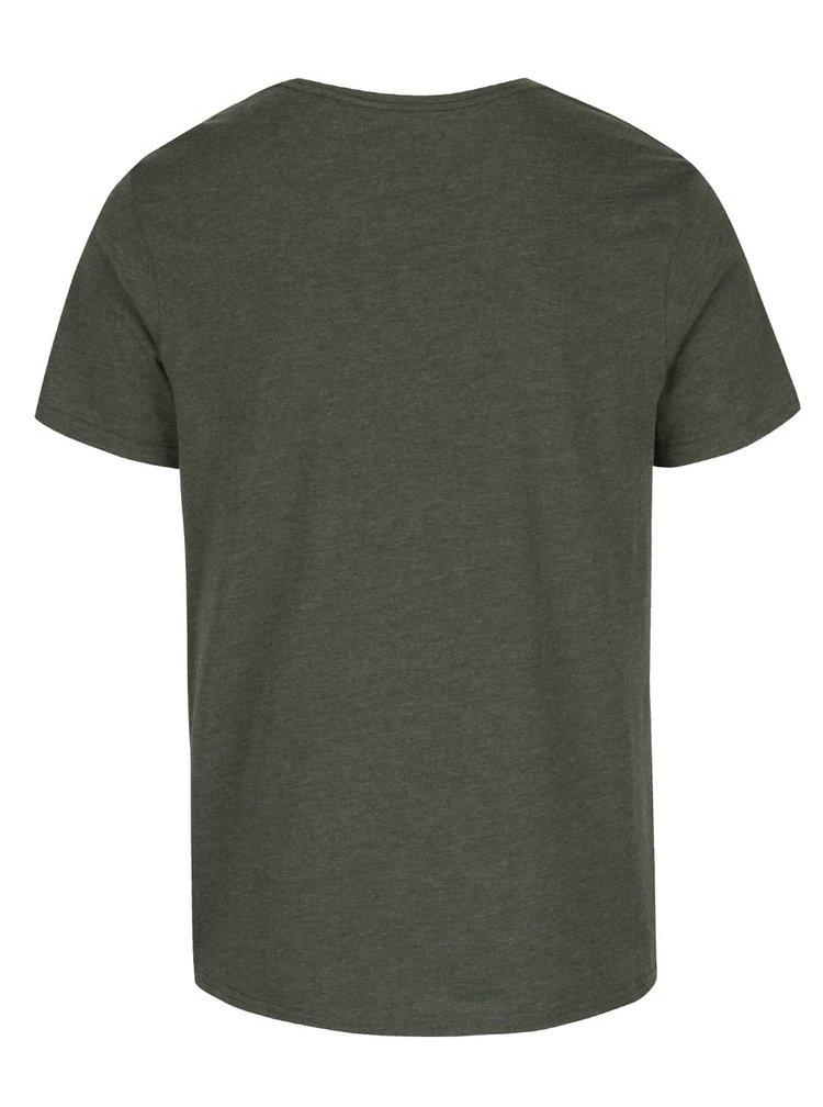 Tricou verde inchis Burton Menswear London cu model discret