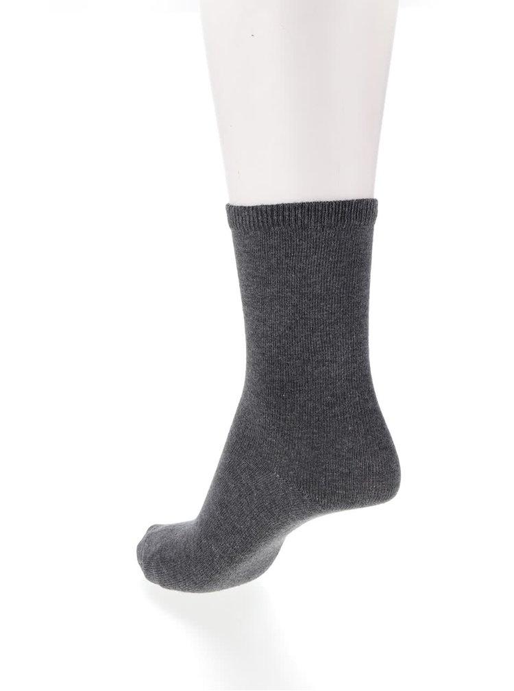 Sada pěti párů modro-černých vzorovaných ponožek Pieces Emmy