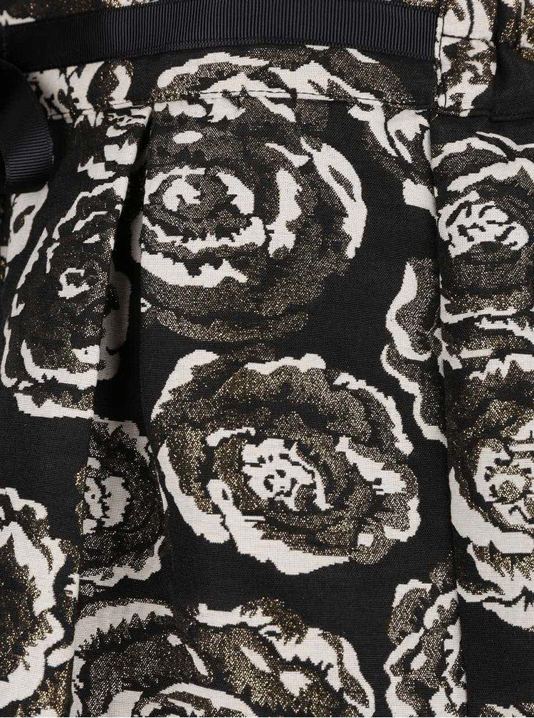 Fusta neagra cu model floral VERO MODA Daisy