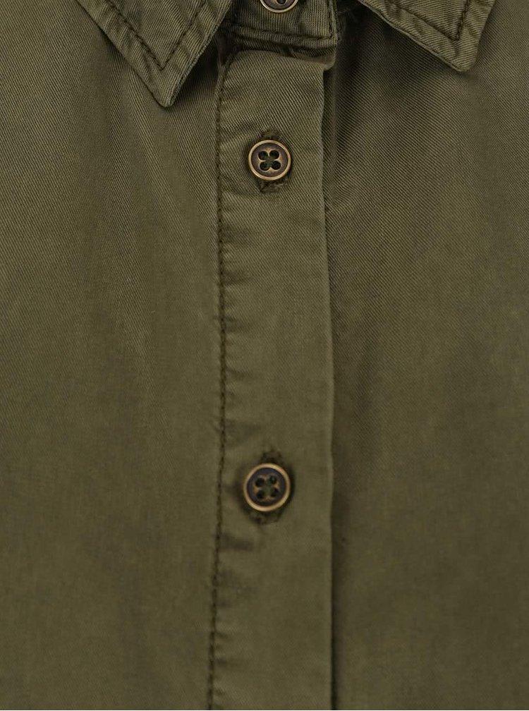 Khaki košile s nášivkami VILA Mayor