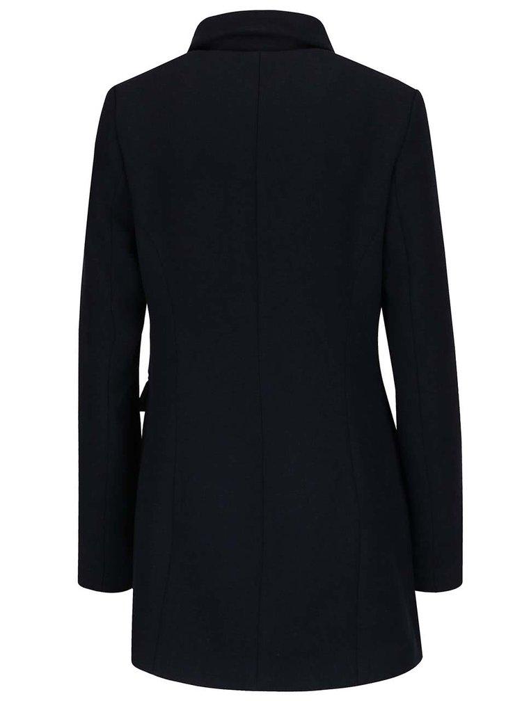 Tmavě modrý kabát s dvouřadým zapínáním VERO MODA Marina