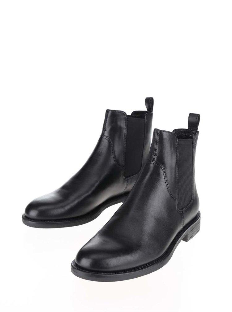 Čierne dámske chelsea topánky Vagabond Amina