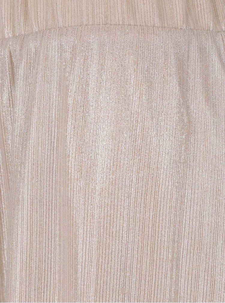 Krémová trblietavá sukňa VILA Pol